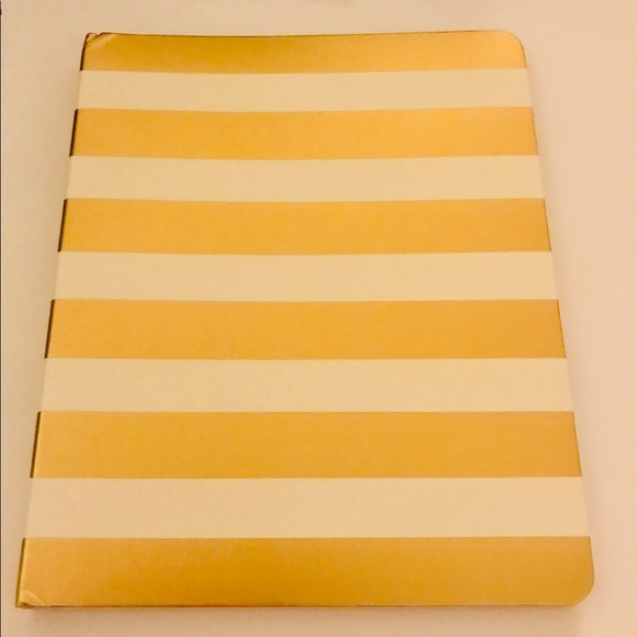 kate spade Other - New Kate Spade Spiral Notebook Gold and White